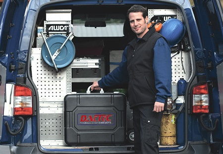 DACTEC Service Engineer with his van